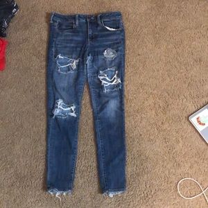 Ripped Blue Skinny Jeans